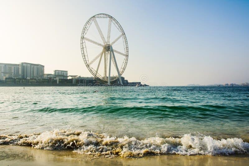 Ain колесо ferris Дубай на пляже JBR стоковое фото rf