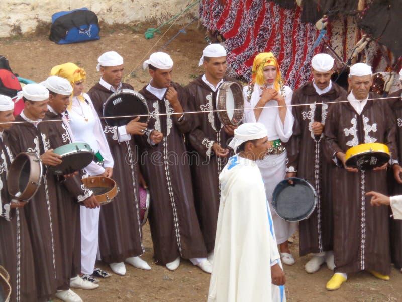 Ain louh för Ahidous festivalkhnifra royaltyfria foton