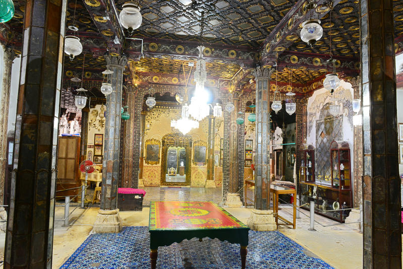 Aina Mahal in Bhuj. The Aina Mahal in Bhuj, India, is an old Palace that was built in the 18th century. The erstwhile palace which belonged to Maharao Lakhpatji stock image
