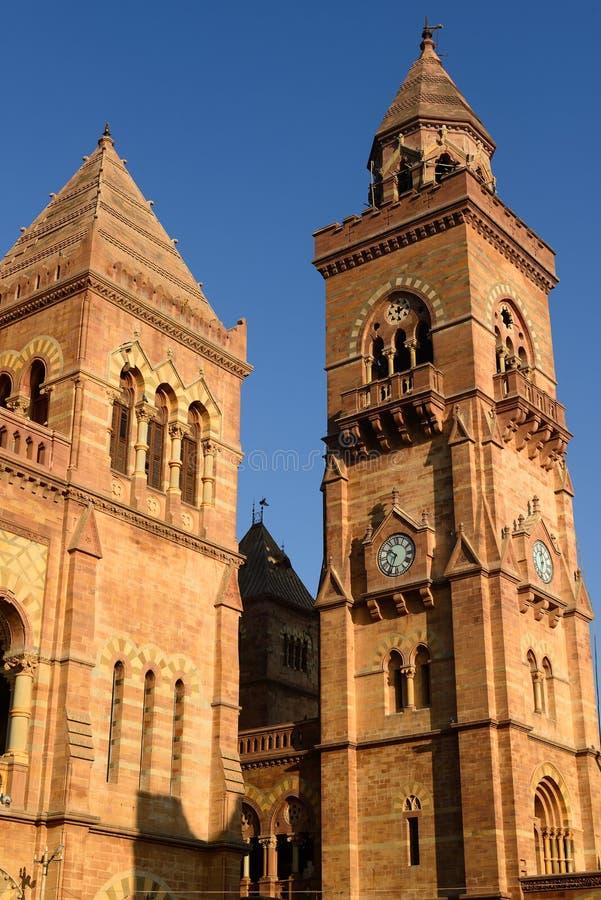 Aina Mahal-Palast in Bhuj, Gujarat, Indien lizenzfreie stockbilder
