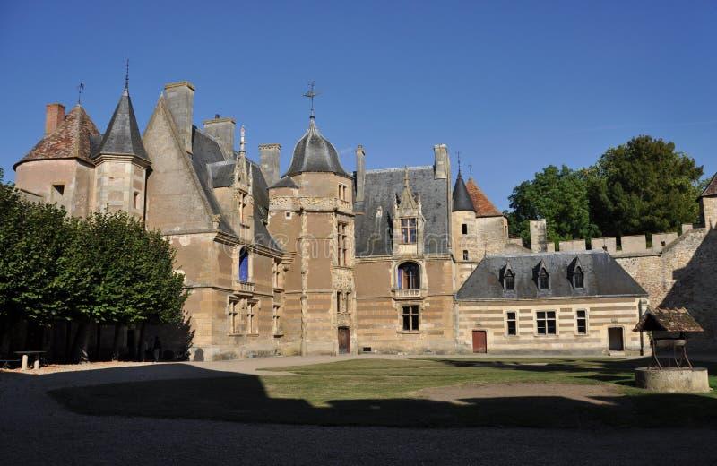 Ainay-le-Vieil castle photo stock