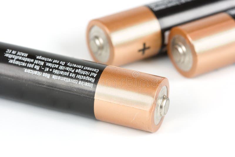 Ainda baterias da tecnologia imagem de stock