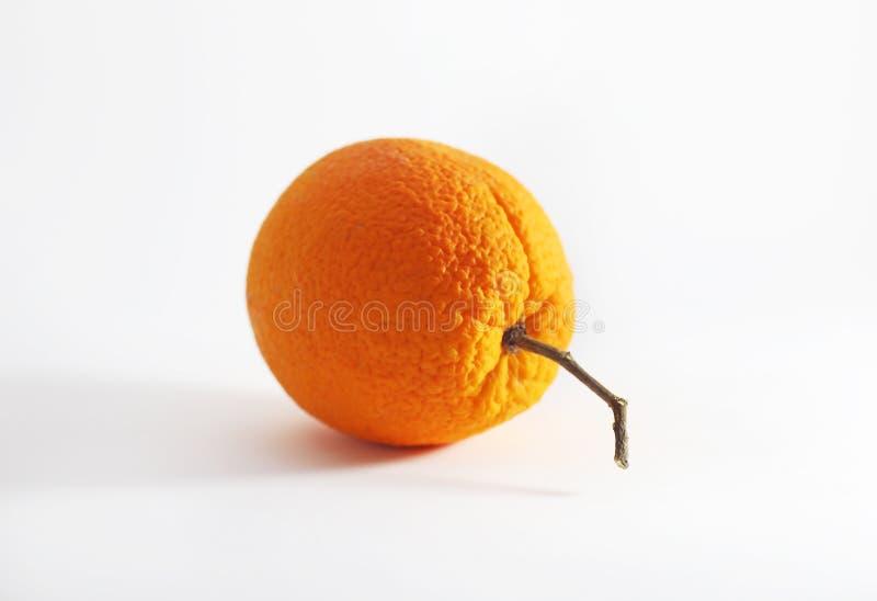 Ainda fotografia da vida da laranja fresca isolada no fundo branco foto de stock royalty free