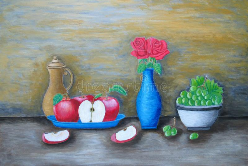 Ainda frutas da vida ilustração royalty free