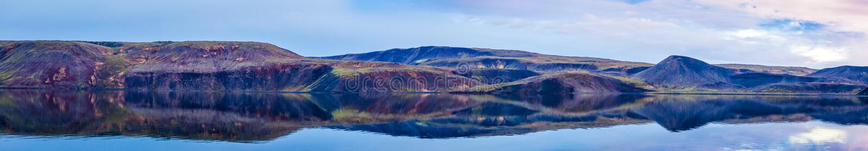 Ainda panorama do lago imagem de stock royalty free