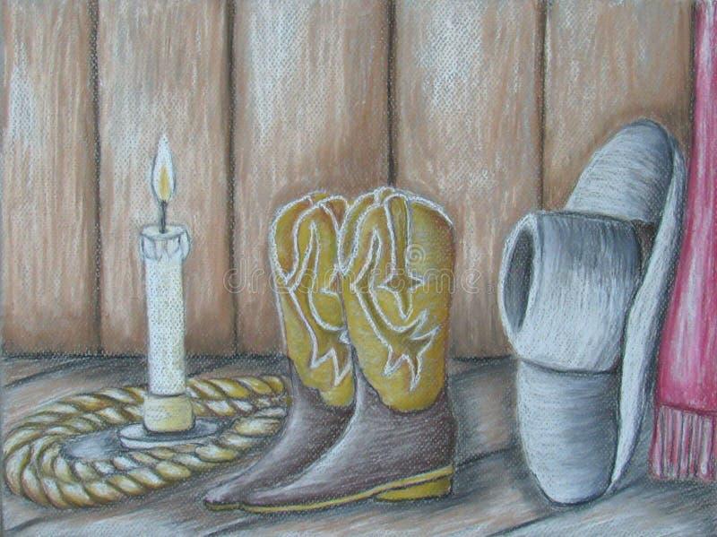 Ainda vaqueiro da vida ilustração do vetor