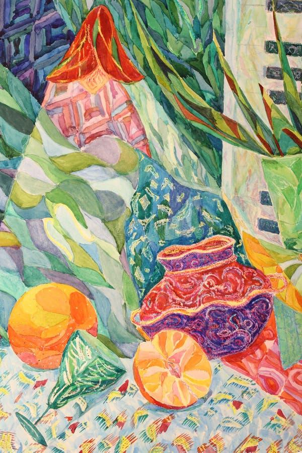Download Ainda vida ilustração stock. Ilustração de flor, pintura - 29842408
