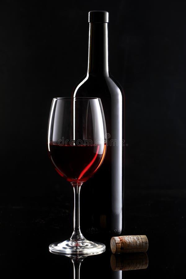 Ainda vida com vinho vermelho imagens de stock