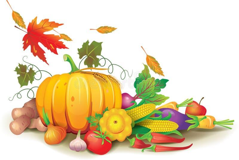 Ainda vida da colheita do outono ilustração royalty free