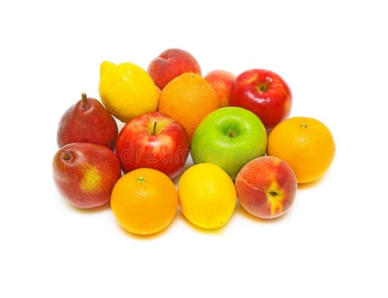 Ainda vida da fruta fresca em um fundo branco fotografia de stock royalty free