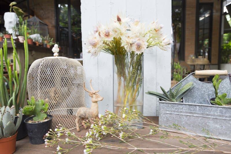 Ainda a vida da noiva de cora proten flores com decoração imagens de stock