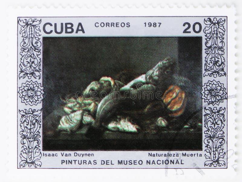Ainda vida de Isaac de Duynen, pinturas do serie do Museu Nacional, cerca de 1987 fotos de stock royalty free
