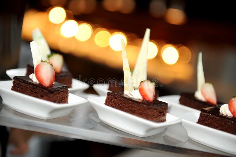 Ainda vida do bolo de chocolate imagem de stock royalty free