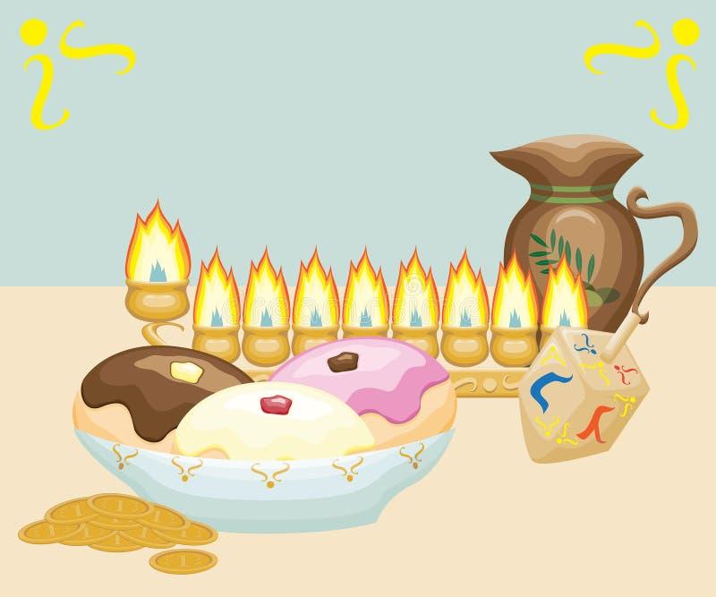 Ainda-vida do Hanukkah imagem de stock royalty free