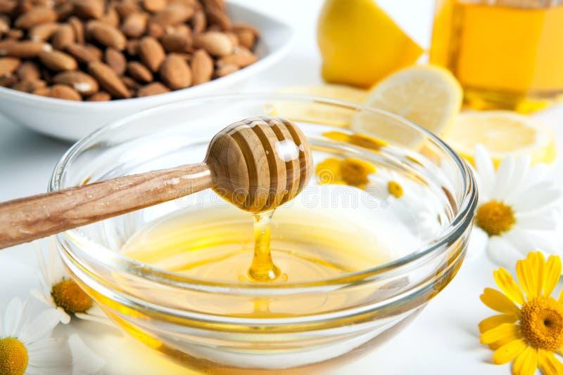 Ainda vida do mel imagens de stock