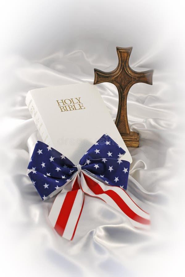 Ainda vida religiosa patriótica imagem de stock
