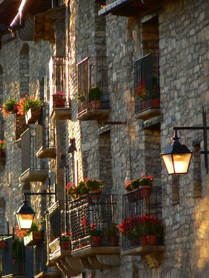 Ainsa Huesca (Spanien) arkivfoton