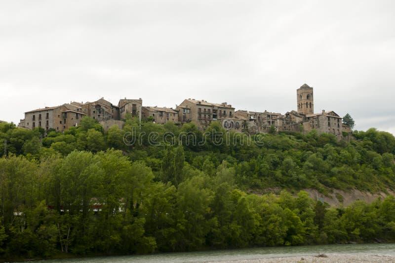 Ainsa - Spanien arkivfoton