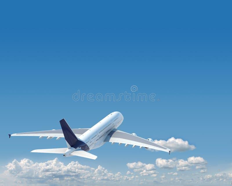 Aiplane avec l'espace de copie dans le ciel illustration de vecteur