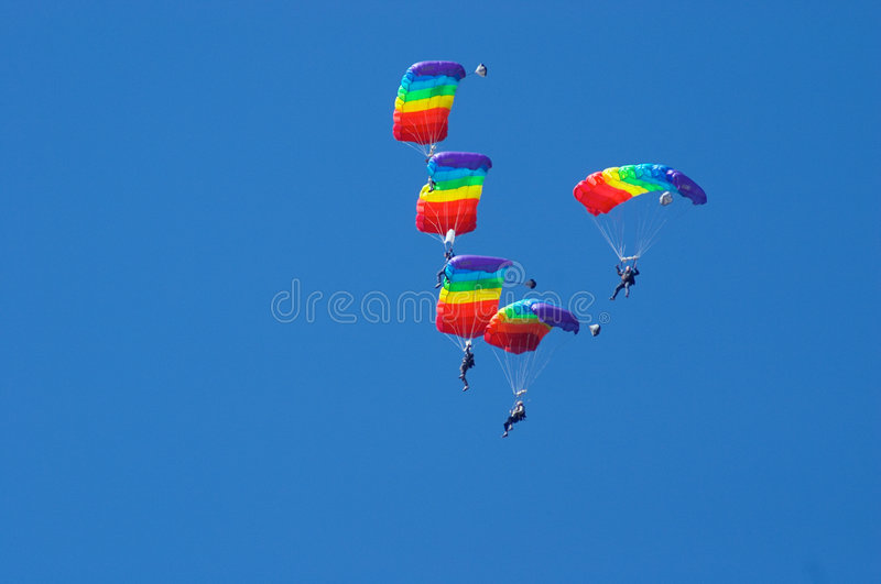 Air acrobatics royalty free stock images
