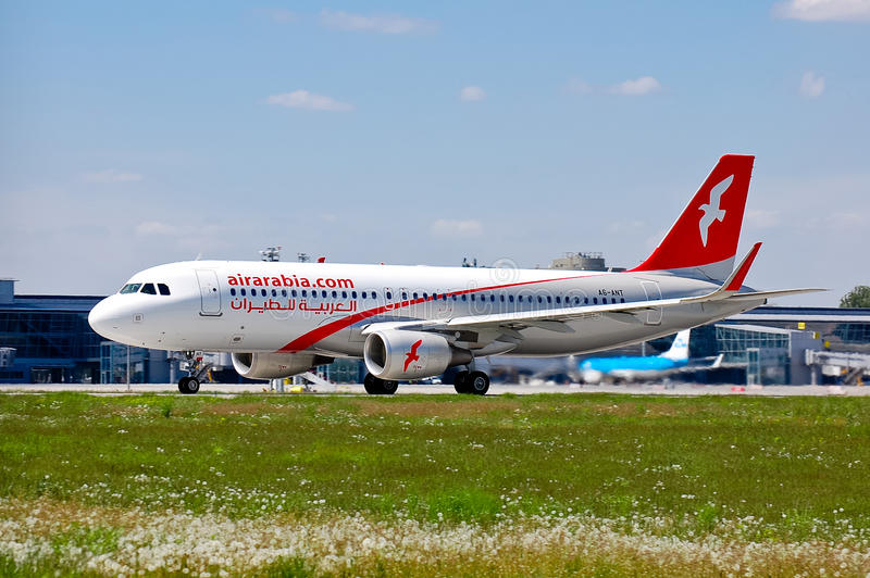 Air Arabia Airbus A320 stockfotografie