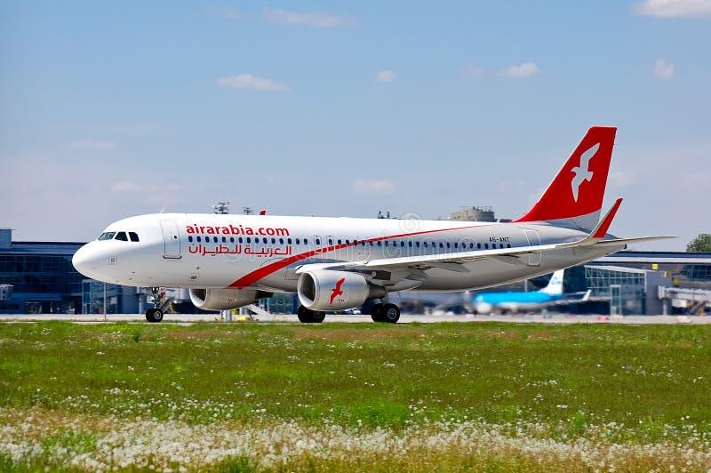 Air Arabia flygbuss A320 arkivbild