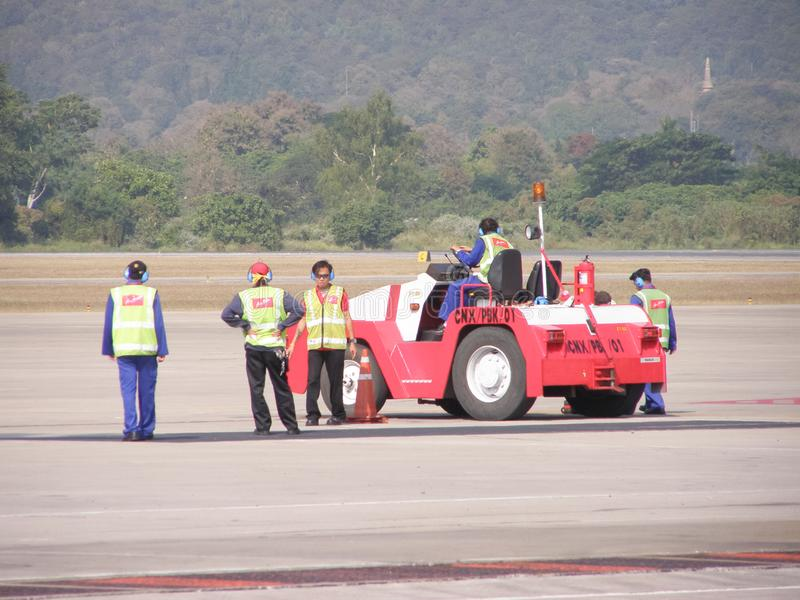 Air Asia tailandês moeu a equipe imagem de stock royalty free
