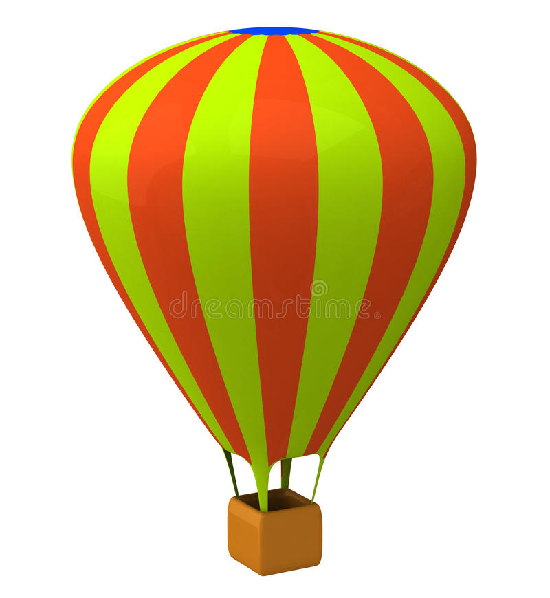 Air balloon 3d royalty free illustration