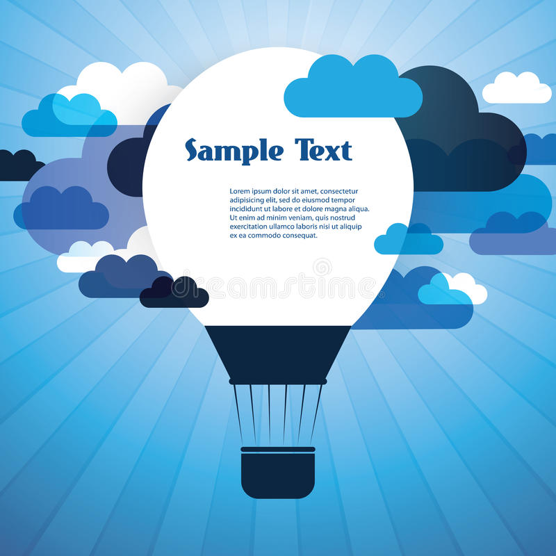 Air Balloon Background with Clouds stock illustration