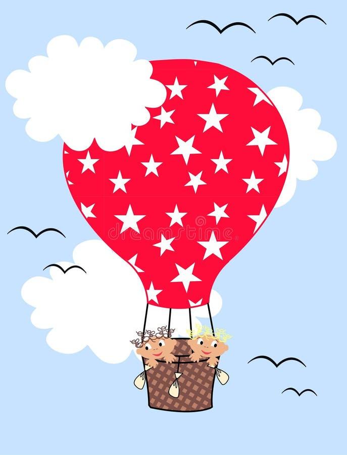 Download Air Balloon Children Pattern Stock Illustration - Image: 14935886