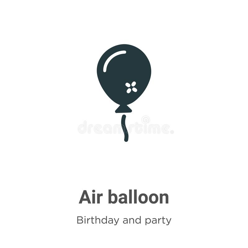 Air balloon vector icon on white background. Flat vector air balloon icon symbol sign from modern birthday and party collection stock illustration