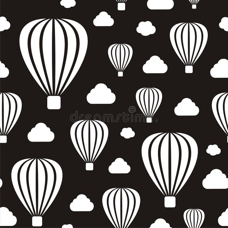 Download Air Balloons Seamless Pattern Stock Vector - Image: 31402572