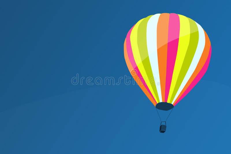 Download Air baloon stock illustration. Illustration of atmosphere - 5159127