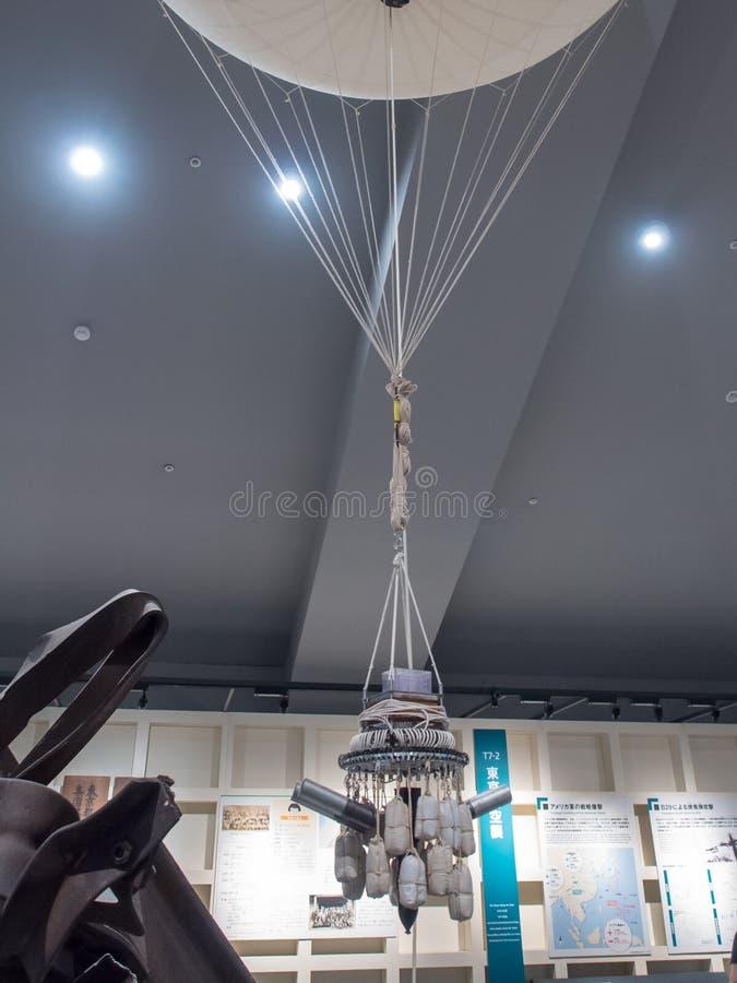 Air Baloon Bomb in Edo-Tokyo Museum, Japan stock afbeeldingen