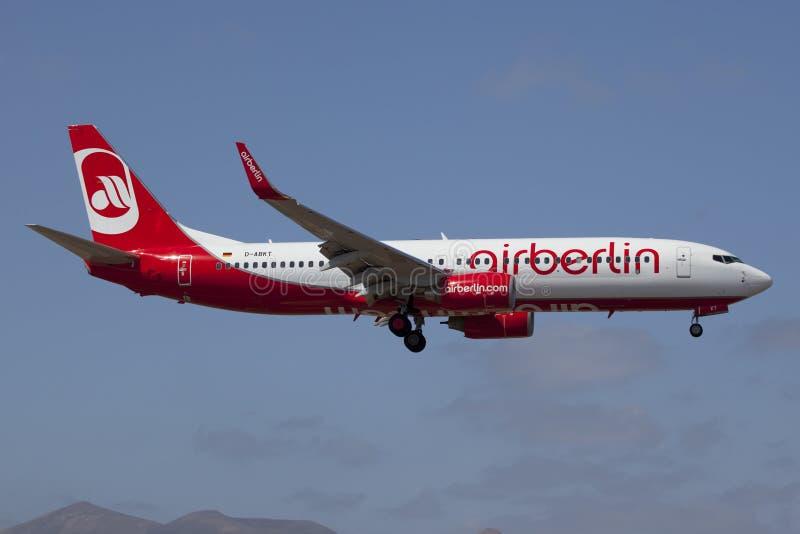 Air Berlin Boeing B737-800 royalty free stock photo