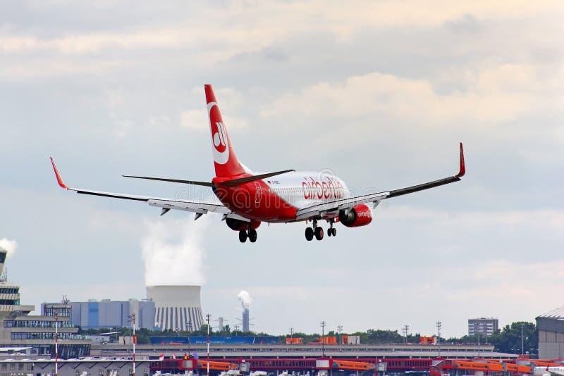 Air Berlin Boeing 737 royalty free stock photos