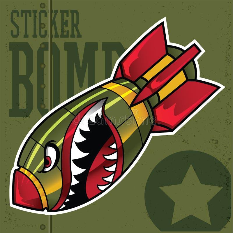 Free Air Bomb Flying Tiger Shark Mouth Sticker Vinyl Camo Vector Illustration Stock Photo - 206013710