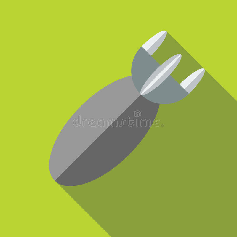 Air bomb icon in flat style vector illustration