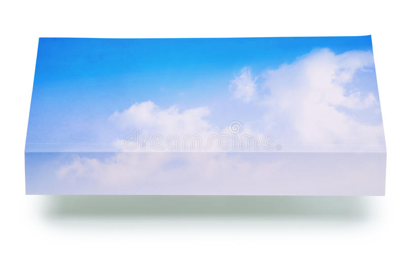 Air book - clipping path stock photo