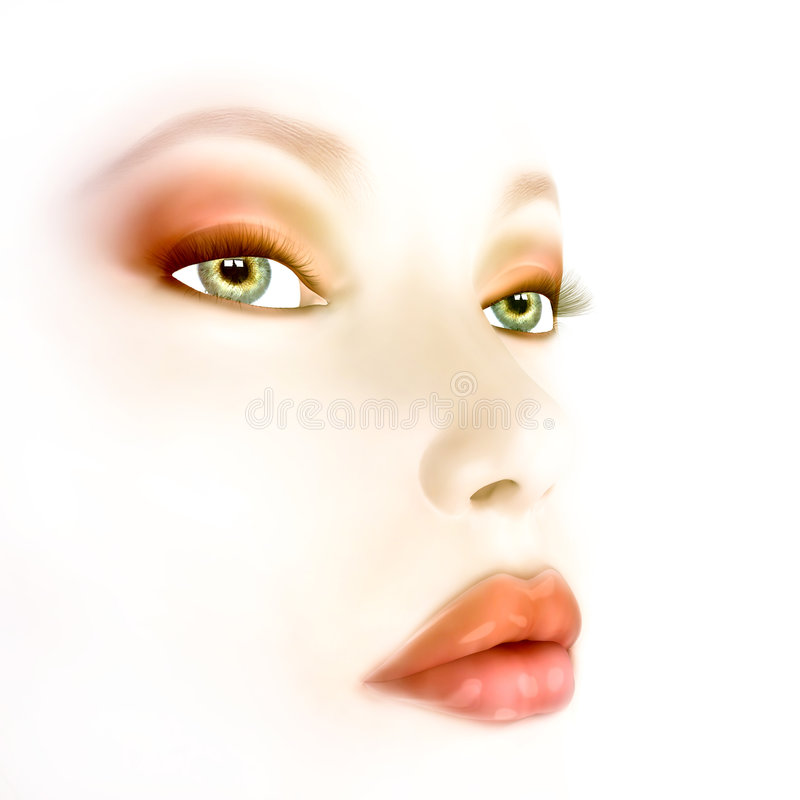 Air Brushed Beauty royalty free stock photography