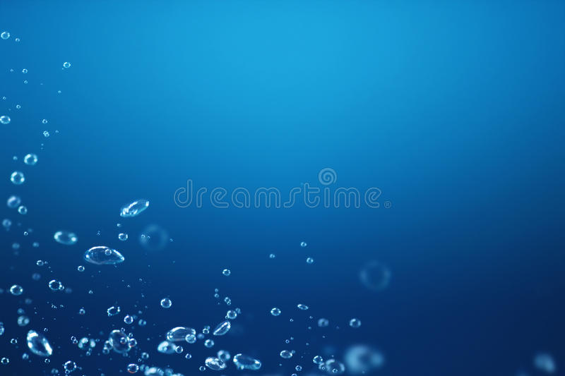 Air bubbles under water royalty free stock image