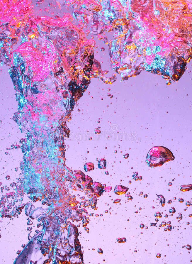 Air bubbles in water royalty free stock image
