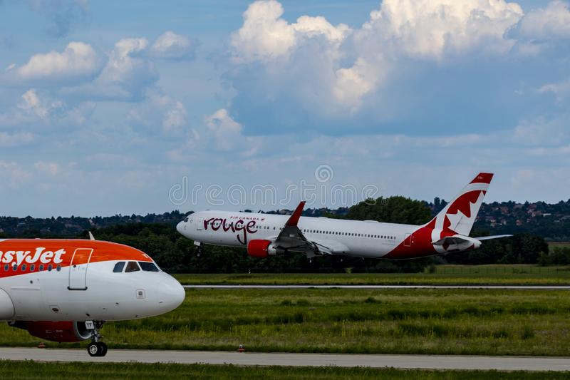 Air Canada Airline Rouge Boeing 787 photographie stock