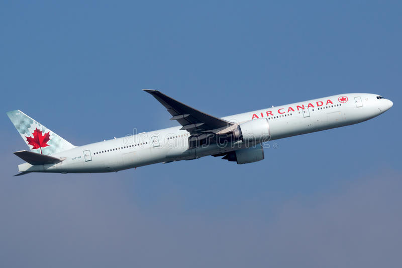 Air Canada Boeing 777-300 immagini stock libere da diritti