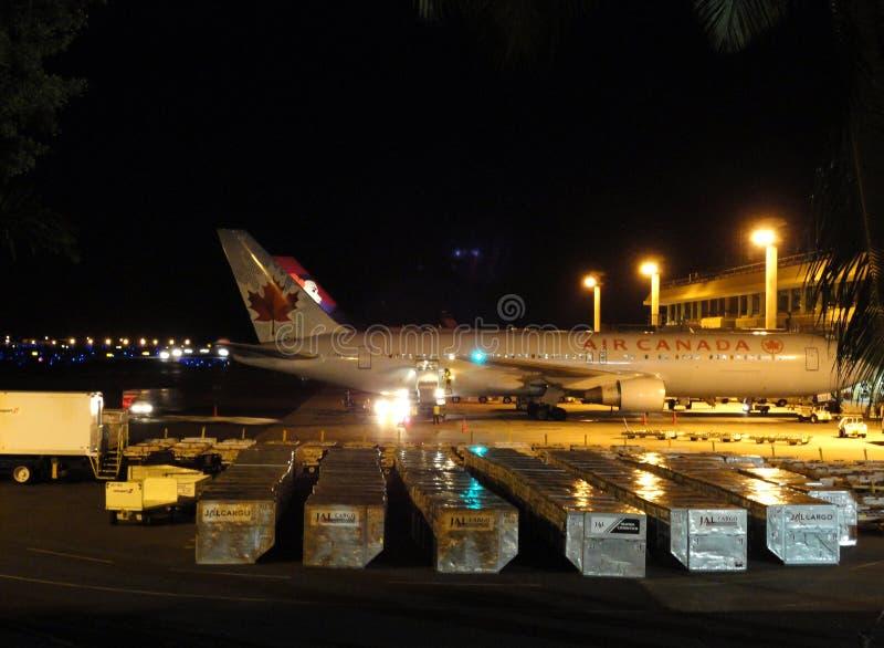 Air Canada and Hawaiian Airlines planes sit at Air royalty free stock photo