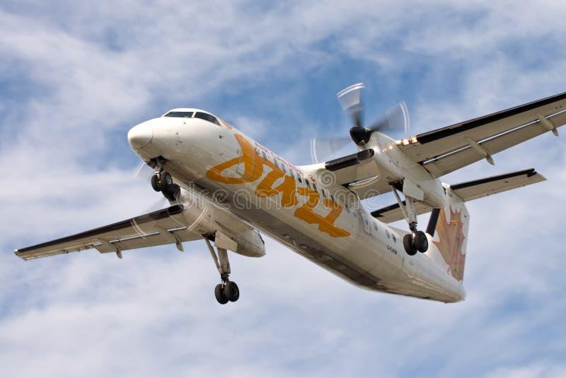 Air Canada Jazz Dash 8 plane landing