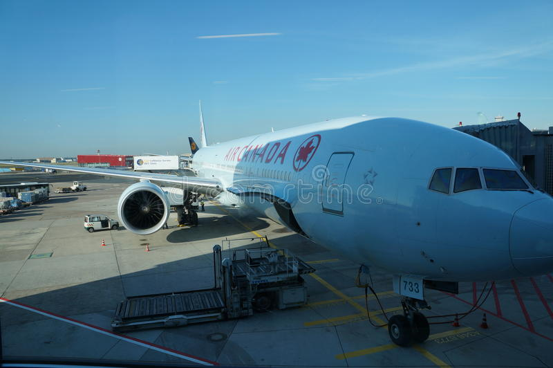 Air Canada Plane stock image