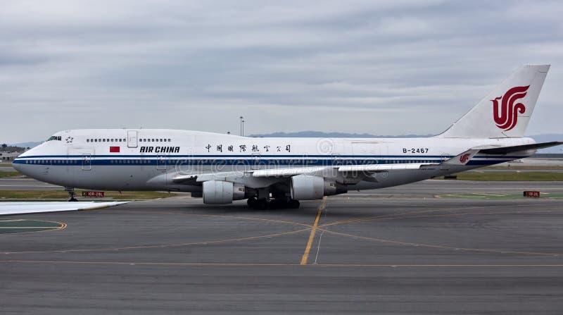Air China Boeing 747-400 fotografia stock libera da diritti