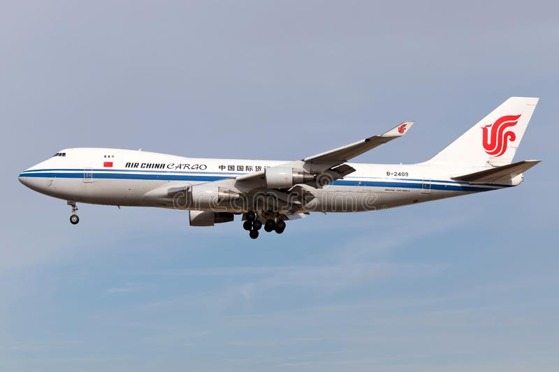 Air China Cargo Boeing 747-400F royalty-vrije stock afbeelding