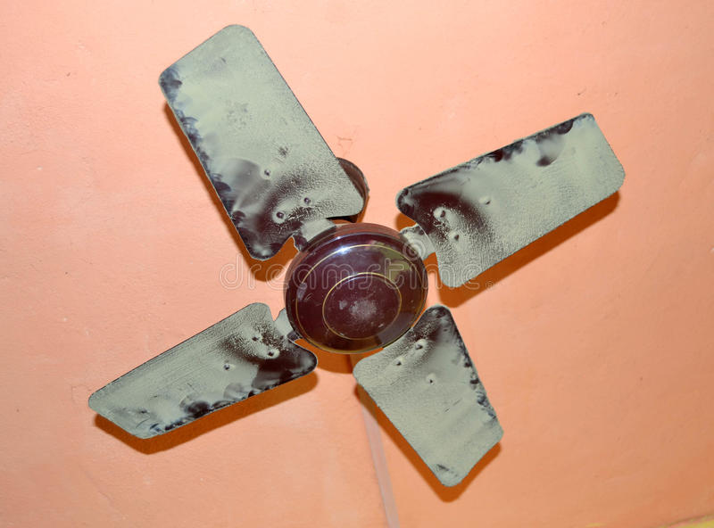 Air circulation. Using a ceiling fan, reduces the feeling of heat. It assumes a certain height under ceiling and the use of a slowly turning device to avoid the stock images